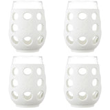 Lifefactory 17 oz Wine Glass 4 Pack with Silicone Sleeves