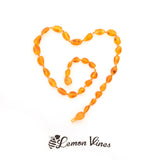 Lemon Vines Amber Children's Necklace- Unpolished Honey