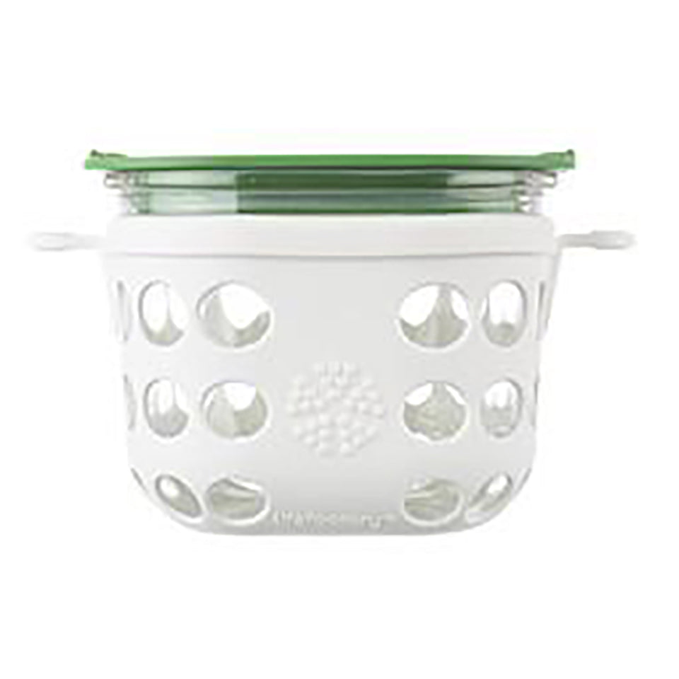 Lifefactory 2 Cup Glass Food Storage with Silicone Sleeve