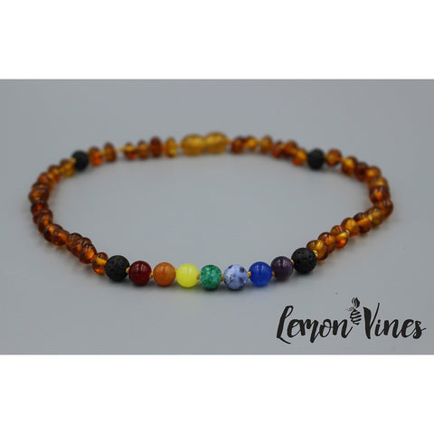 Lemon Vines Amber Aromatherapy Children's Necklace- Chakra