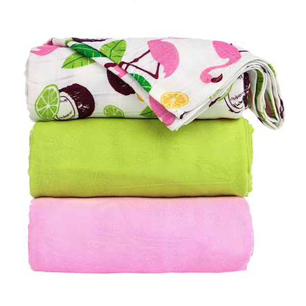 Tula Blanket Set- Coco Flamingo