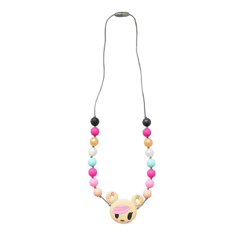 Itzy Ritzy x tokidoki Teething Happens Chewable Mom Jewelry- Donutella