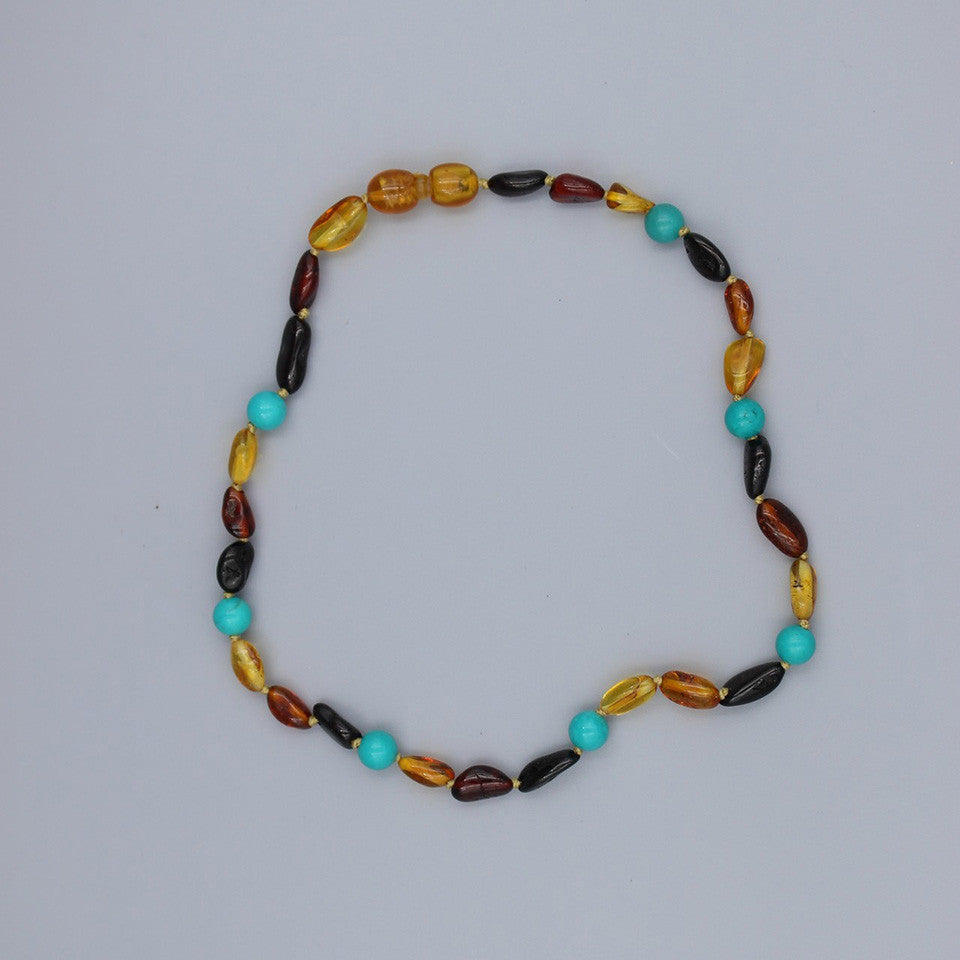 Lemon Vines Amber Children's Necklace- Jack