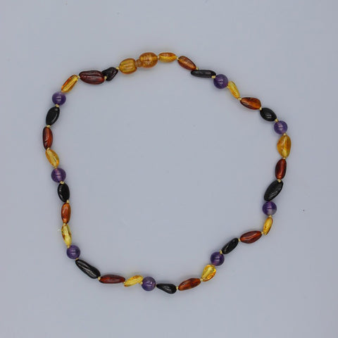 Lemon Vines Amber Children's Necklace- Jill