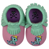 Itzy Ritzy Moc Happens Leather Baby Moccasins- Sirena