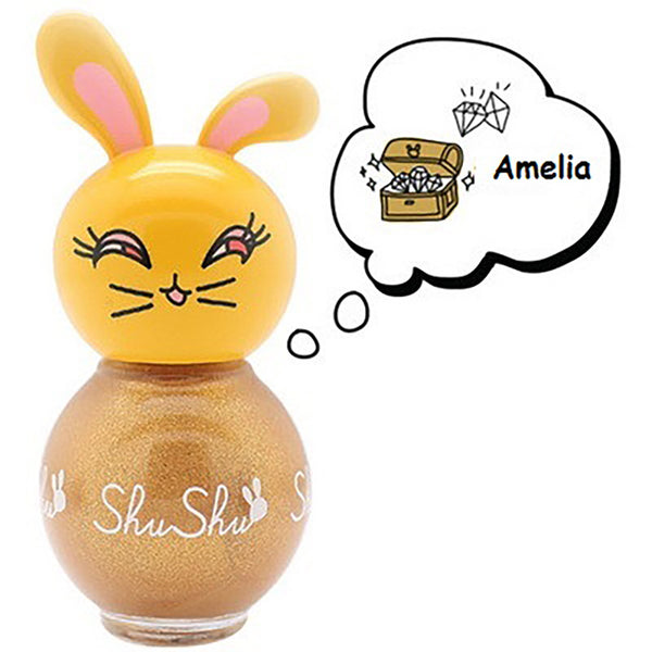 ShuShu Kids Nail Polish- Enchanting Gold Amelia