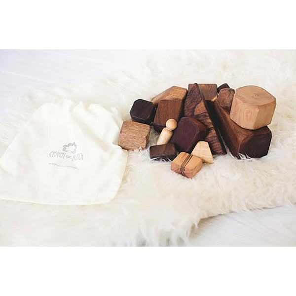 Clover and Birch Wooden Building Block Set