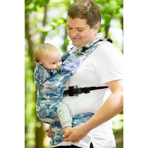 Lenny Lamb Wrap Conversion Ergonomic Carrier- Blue Camo