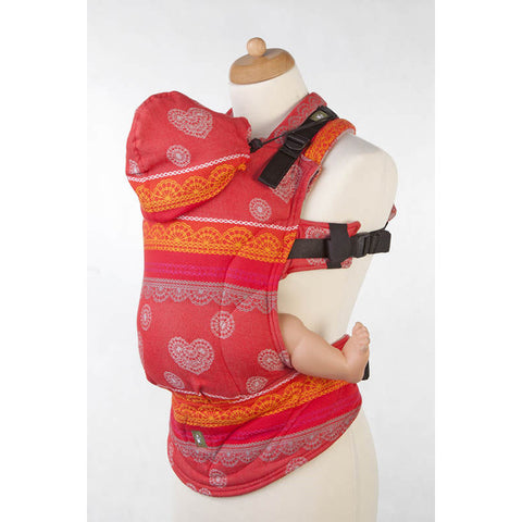 Lenny Lamb Wrap Conversion Ergonomic Carrier- Cherry Lace Reverse