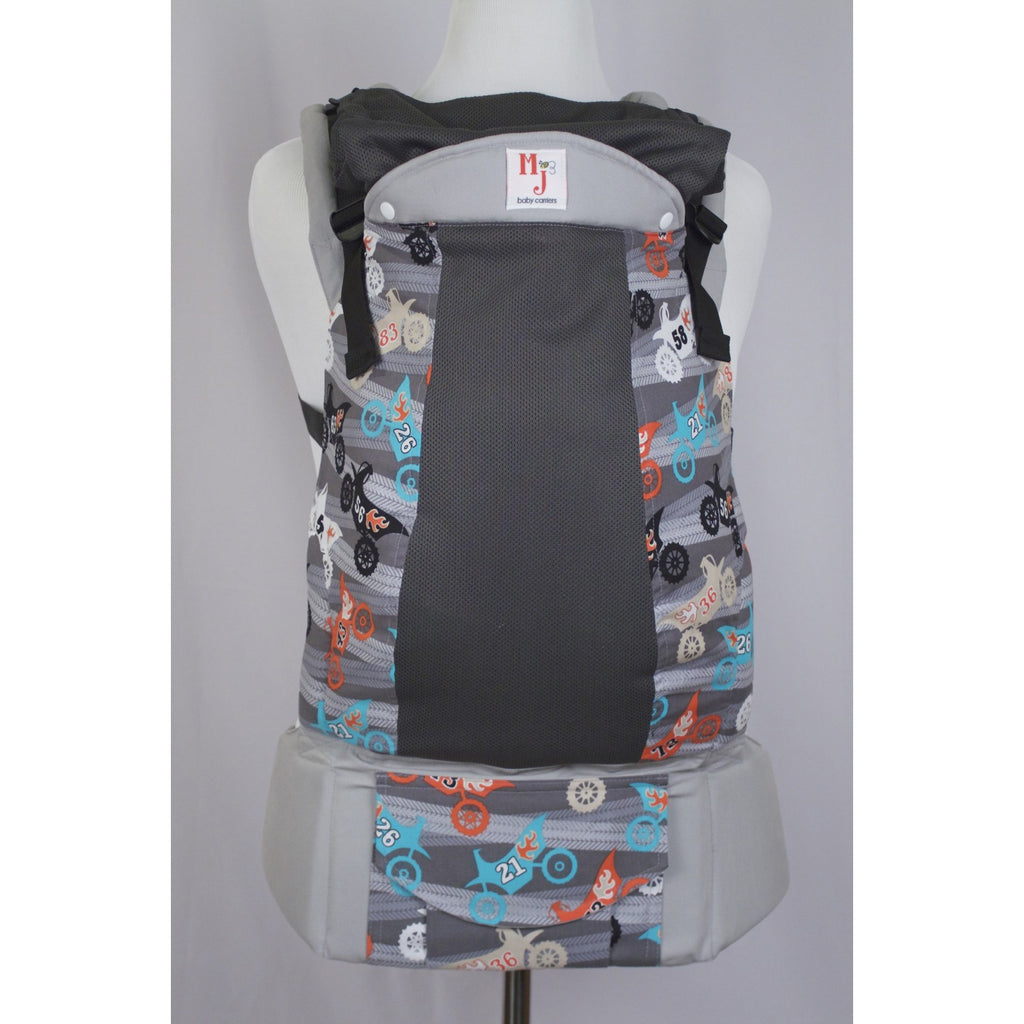 Buckle Carrier - MJ Baby Carriers- Excite Bike On Fresh Mesh