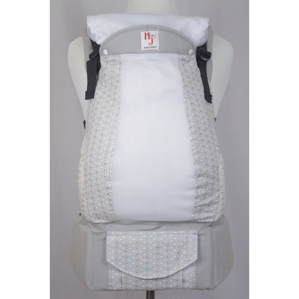 Buckle Carrier - MJ Baby Carriers- Heart Of Gold On Fresh Mesh
