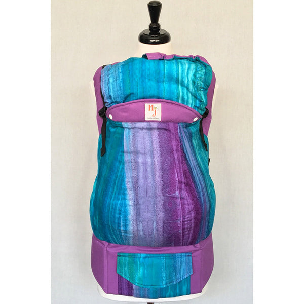 Buckle Carrier - MJ Baby Carriers- Jeweled- Purple Canvas