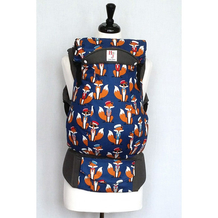 Buckle Carrier - MJ Baby Carriers- Navy Foxes