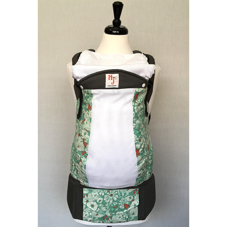Buckle Carrier - MJ Baby Carriers- Pocket Full Of Posies On Fresh Mesh