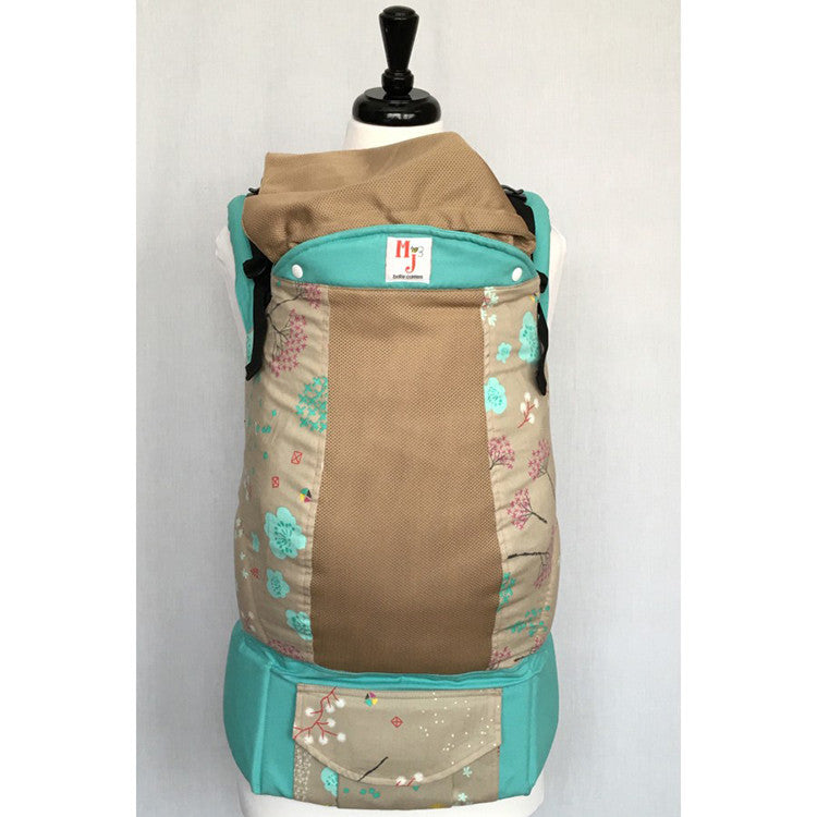 Buckle Carrier - MJ Baby Carriers- Spring Fling On Fresh Mesh