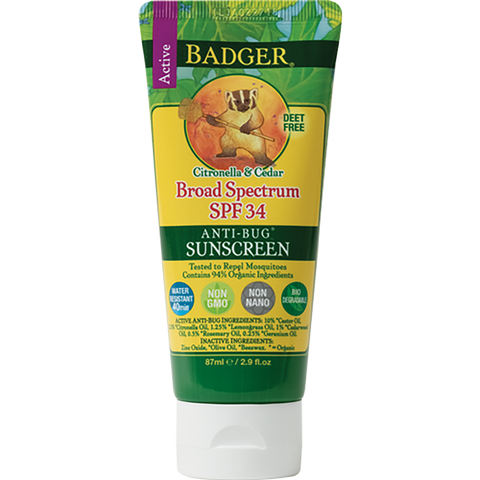 Badger SPF 34 SUNSCREEN AND BUG Repellent
