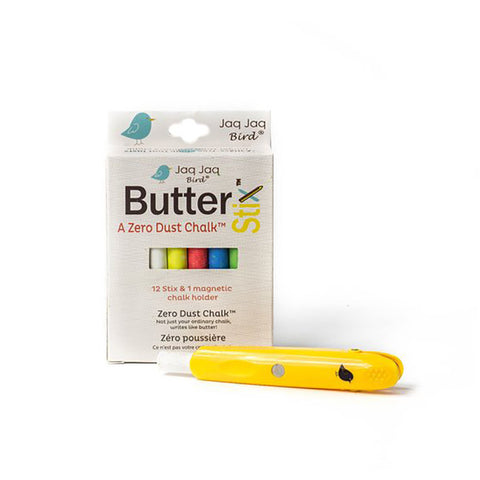 Jaq Jaq Bird ButterStix Zero Dust Chalks with Holder