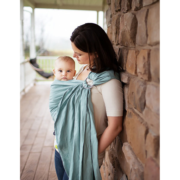 Comfy Joey Ring Sling- Jasper (Icy-Blue Linen)