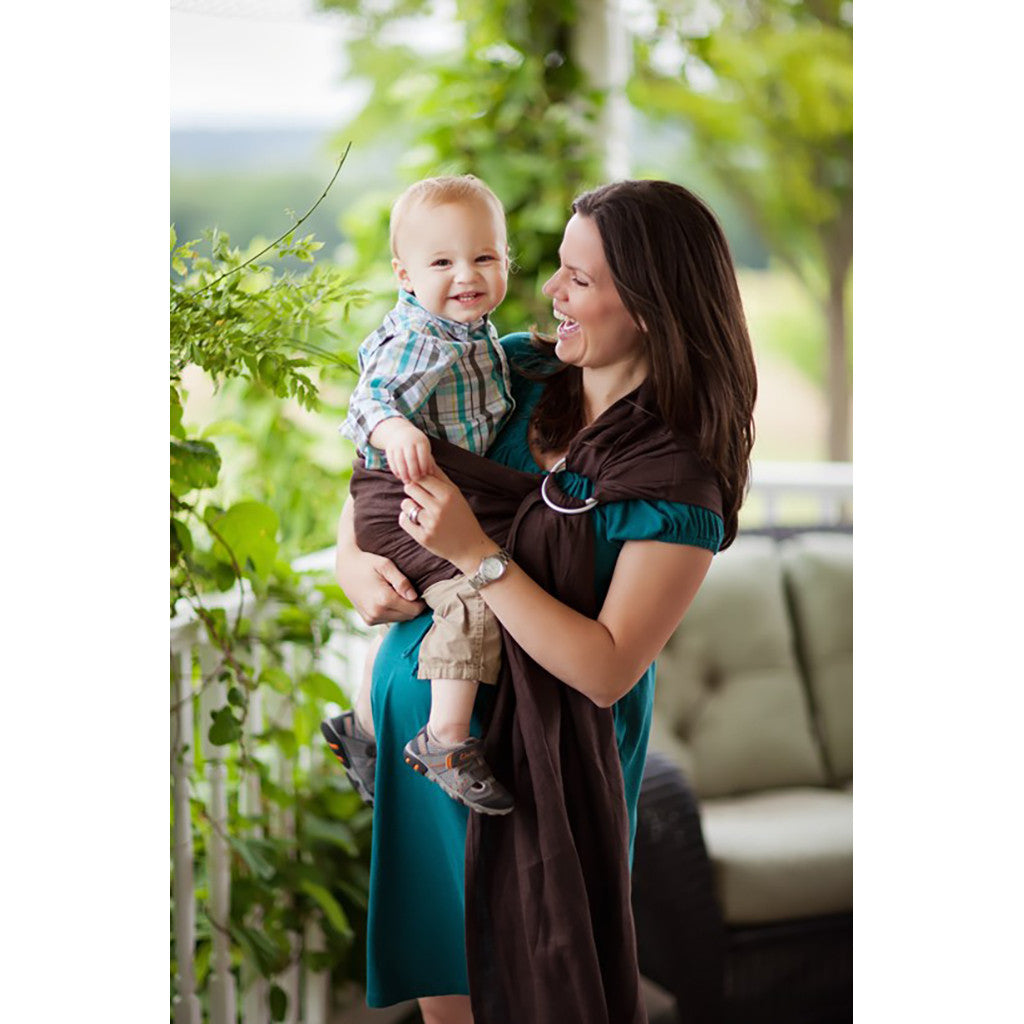 Comfy Joey Ring Sling- Java (Coffee-Bean Linen)