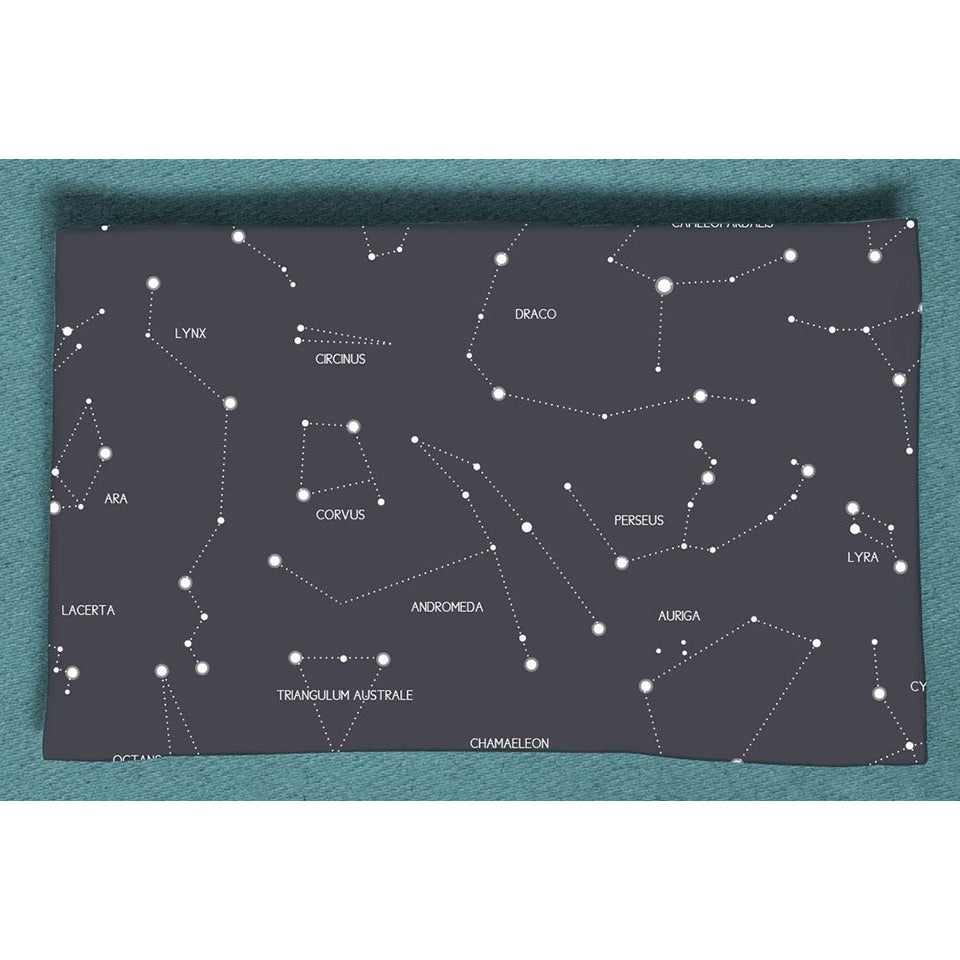 Blush & Blue Large Swaddle Blanket- Cassiopeia Constellations