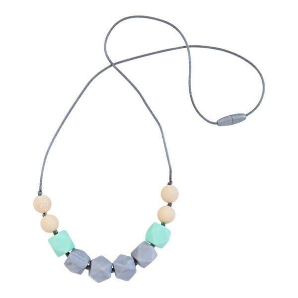 Itzy Ritzy Teething Happens Chewable Mom Jewelry - Cube Bead Necklace