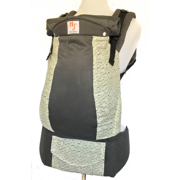 MJ Baby Carriers- Hidden Panda on Graphite Fresh Mesh