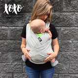XOXO Baby Carrier- Grayscale