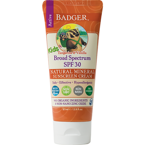 Badger SPF 30 KIDS Sunscreen Cream