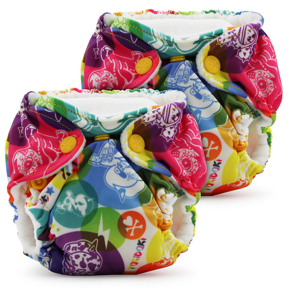 Lil Joey Newborn All In One Cloth Diaper (2 Pack)- LIMITED EDITIONS