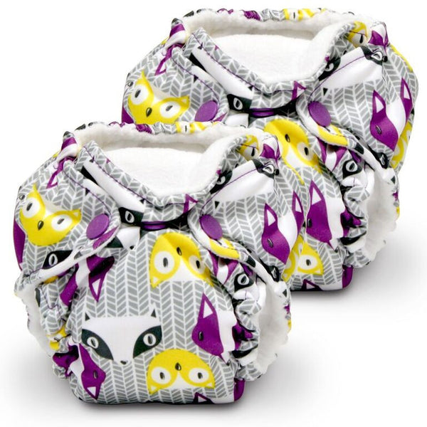 Lil Joey Newborn All In One Cloth Diaper (2 Pack)- PRINTS