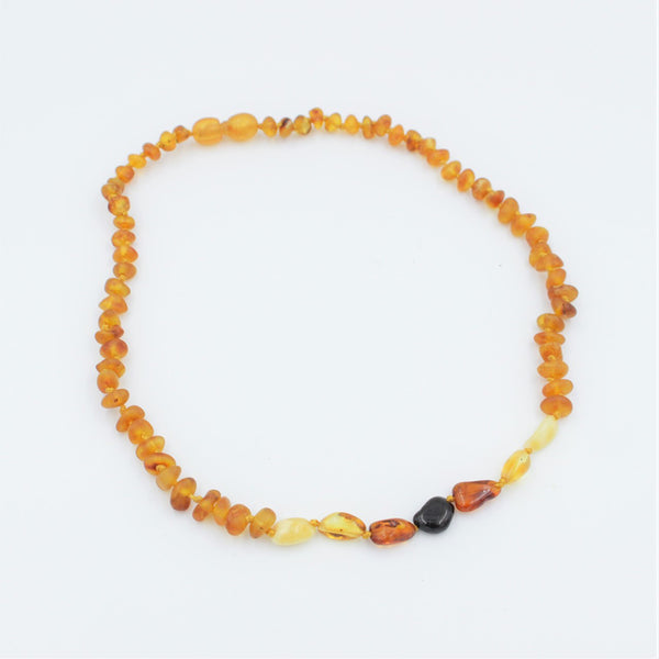 Lemon Vines Amber Children's Necklace- Mixed Ombre