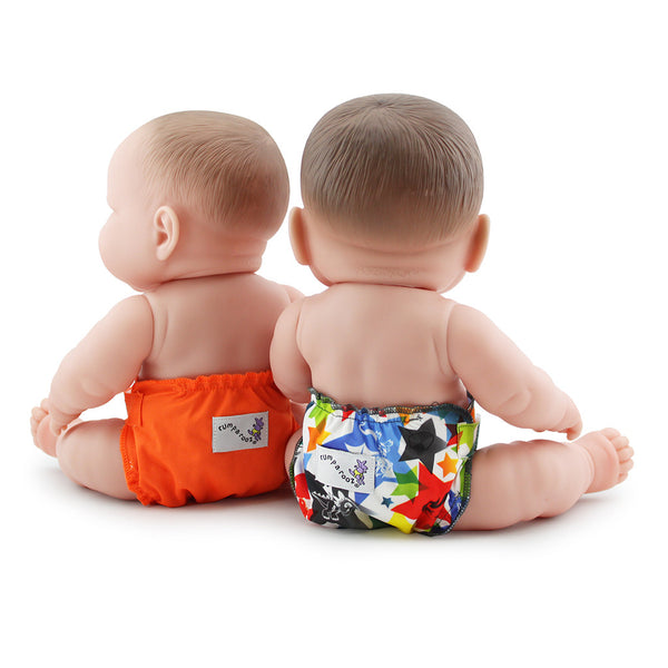 Rumparooz Doll Diaper Set- Dragons Fly And Poppy