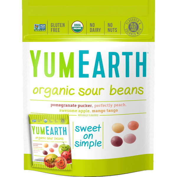 YumEarth Organic Sour Beans- 7 oz (10 snack packs)