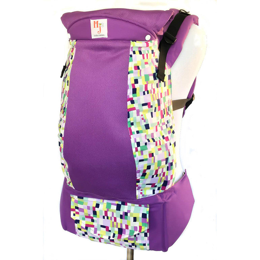 MJ Baby Carriers- Squared Up on Purple Fresh Mesh