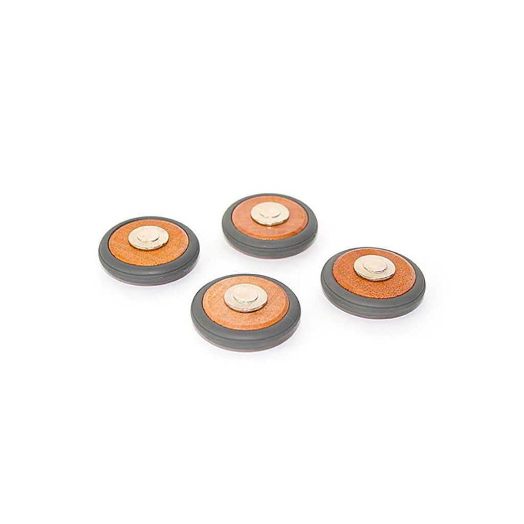 Tegu Magnetic Wooden Wheels- Set Of 4