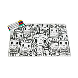 ZoLi tokiMATTIES Silicone Coloring Placemat