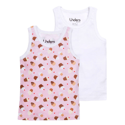 GroVia Unders Tank Tops- Cupcakes (2-pack)