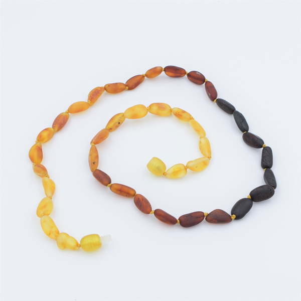 Lemon Vines Amber Children's Necklace- Unpolished Rainbow
