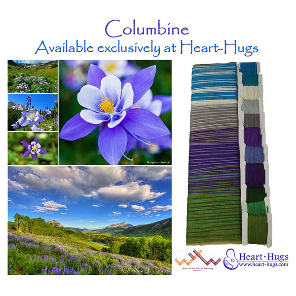 West 4th Wraps Handwoven- Colorado Columbine Exclusive