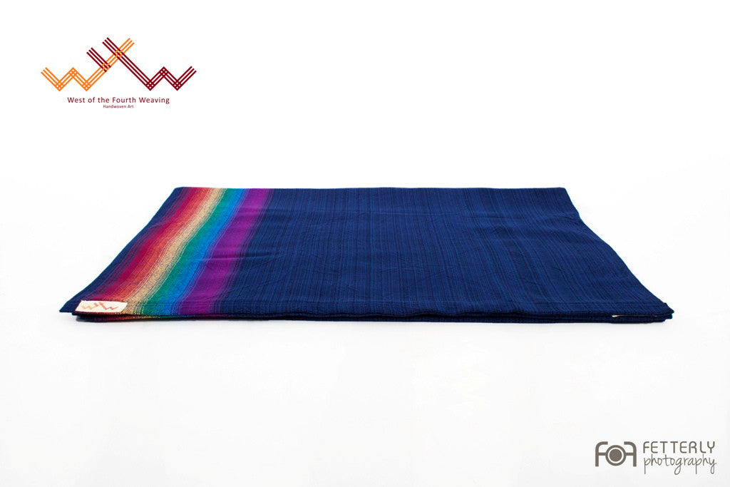 West 4th Wraps Handwoven- Dark Blue Sky