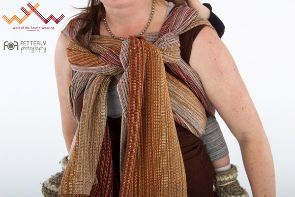 West 4th Wraps Handwoven- Signature Brown Weft