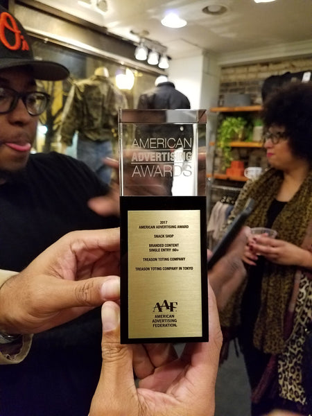 Treason Toting Company in Tokyo -Wins 2017 Baltimore Addy Award