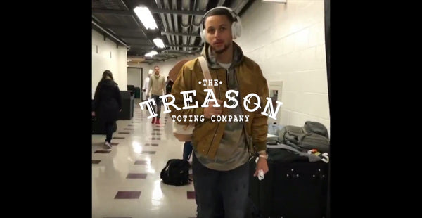 Video - Steph Curry wears The Charles backpack
