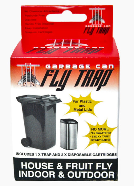 Garbage Can Fly Trap uses a flies natural attraction to your garbage to catch it.