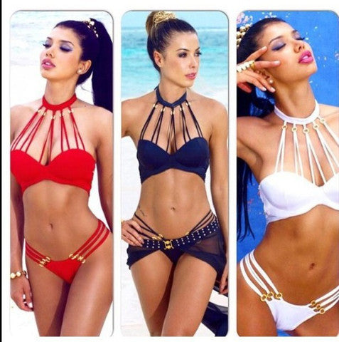 SEXY HOLLOW OUT  POLYLINE SHOW BODY BIKINI
