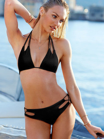 SEXY HOLLOW OUT POLYLINE CUTE BIKINI HOT