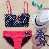 CUTE BOW DOTS BIKINIS