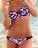ON SALE HOT PRINTED GEOMETRIC TWO PIECE BIKINIS