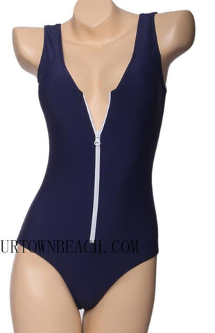 SEXY ZIPPER VEST  ONE PIECE BIKINI