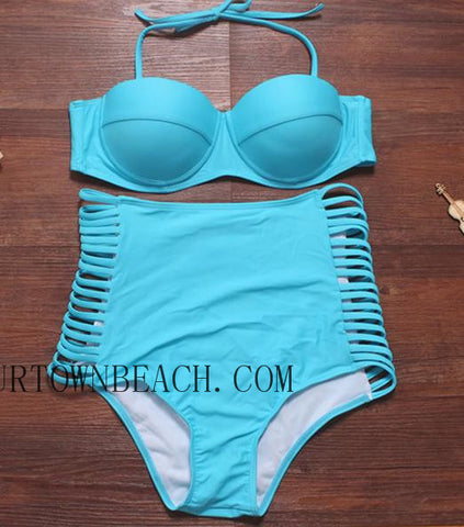 CUTE SEXY HIGH WAIST HOLLOW  BIKINI